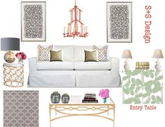 sadie + stella: A refined glam living room design and everything in between