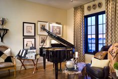 Joy Tribout Interior Design; classic room with piano