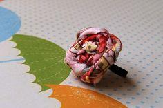 elastic fabric flower ring