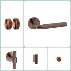 acero inox en acabados especiales PVD. Bathroom Hooks, Door Handles, Doors, Design, Home Decor, Steel, Door Knobs, Decoration Home, Room Decor
