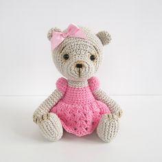 Ravelry: Teddy Girl in a Crocheted Lace Dress pattern by Kristi Tullus