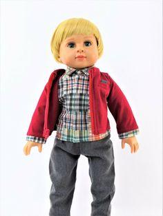 "Bulldog League Football Pant Set Fits 18/"" American Boy or Girl Doll Clothes"