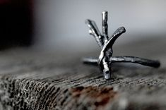 ALGIZ Rune anello argento ramoscelli Santuario di redsofa su Etsy