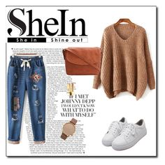 """SheIn 4/VIII"" by nermina-okanovic ❤ liked on Polyvore featuring WithChic, Komono and shein"