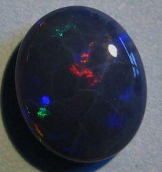 3.57ct Multicolour Australian Lightning Ridge Black Opal Solid, 12x10mm