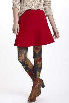 Notched Felt Skirt Anthro