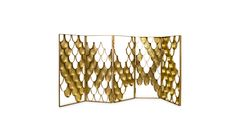 KOI Folding Screen Contemporary Design by BRABBU fits perfectly in any modern home decor as a screen room divider.