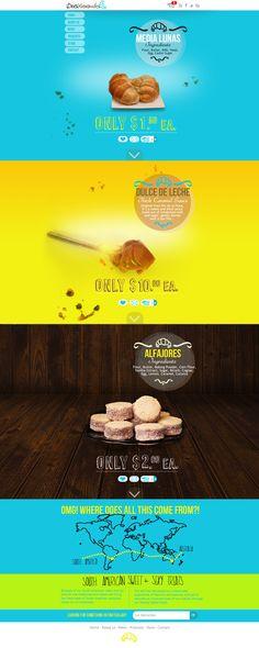 South American Bakery Website Design and Logo Design #webdesign #layout