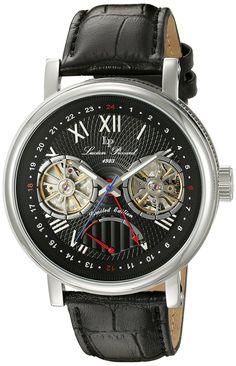 Lucien Piccard Men's LP-15039-01 Matador Analog Display Automatic Self Wind Black Watch * Find out more about the great watch at the image link.