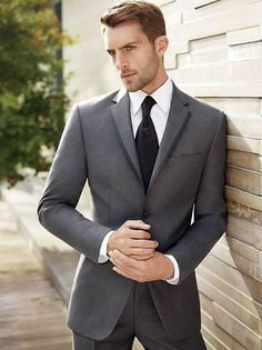 The 5 Basic Suits That You Must Absolutely Own If You Are A Professional Grey Tuxedo, Tuxedo For Men, Grey Suit Men, Mens Suits, Grey Suits, Wedding Men, Wedding Suits, Wedding Bands