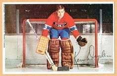 1969-71 Canadiens (Pro Star 'Louiseville') Team Issued Postcard, Ken Dryden | eBay Hockey Goalie, Hockey Players, Montreal Canadiens, Ken Dryden, Maple Leafs Hockey, Goalie Mask, Toronto Maple Leafs, Back In The Day, Historical Photos