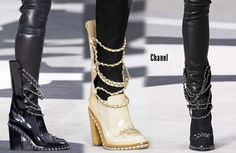 chanel boots…oh my lanta All About Fashion, I Love Fashion, Trendy Fashion, Fashion Shoes, Autumn Fashion, Fashion Accessories, Paris Fashion, Diy Fashion, Chanel Boots