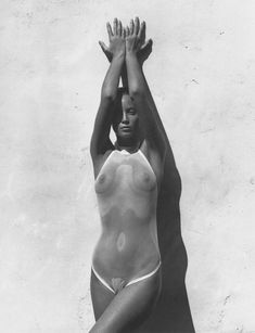 Christy Turlington by Herb Ritts for GQ April 1989.