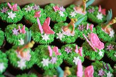 cupcake idea for Tinkerbell party found on Google search