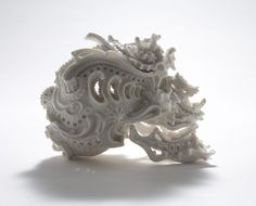 Katsuyo Aoki's porcelain skulls are absolutely mind blowing. They're sort of like Victorian-era alien skulls. Ok…that was a weird analogy, I'll admit. Regardless, they're really impressive.