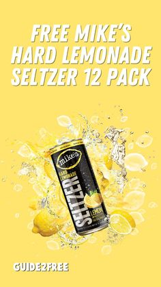 TRY FREE MIKE'S HARD LEMONADE SELTZER! Introducing the full flavor hard lemonade seltzer – Mike's Hard Lemonade Seltzer. Try Lemon, Strawberry, Mango and Pineapple flavors. Each flavor has 100 calories, 1g sugar and is also gluten free. Right now you can get a totally FREE 12 pack after rebate. All you need to do is purchase a Mike's Hard Lemonade Seltzer 12-Pack between August 29 and September 30 and save your receipt. Mikes Hard Lemonade, 100 Calories, Free Samples, Pineapple, Food And Drink, Strawberry, Packing, Mango, September
