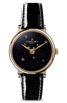 Main Image - Gomelsky The Agnes Varis Solar System Leather Strap Watch, 32mm