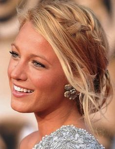 Blake Lively with the braid and loose pieces around the face!