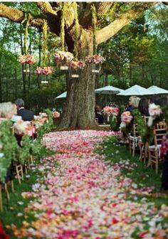 Mooi zo'n entree in het bos! Hoe ziet jullie droomentree eruit? #huwelijk #trouwen #weirdcloset