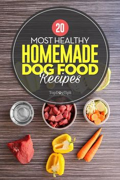 Most Healthy Homemade Dog Food Recipes. Homemade dog food offers canines with well-rounded nutrition in any circumstance, but it is particularly beneficial for special needs dogs. Dogs with kidney disease, heart disease, obese dogs, and dogs with liver co Home Cooked Dog Food, Food Dog, Make Dog Food, Homemade Food For Dogs, Homemade Recipe, Puppy Food, Home Food, Dog Treat Recipes, Snacks