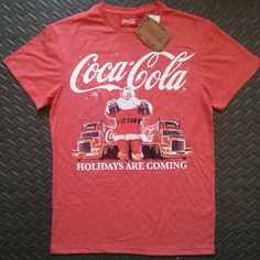 0f8429f7 Primark Coca Cola HOLIDAYS ARE COMING T-Shirt Mens Red sizes S-XL