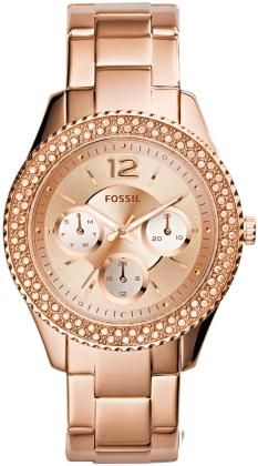 Fossil® Women's Stella Rose Goldtone Stainless Steel Bracelet Watch with Tonal Dial Stainless Steel Watch, Stainless Steel Bracelet, Stella Rose, Gold Models, Fossil Watches, Women's Watches, Luxury Watches, Gold Watches, Wrist Watches