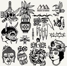 Best tattoos on pinterest Black Tattoos, Cool Tattoos, Grunge Tattoo, Graffiti Tattoo, London Tattoo, Tattoo Flash Art, Stick And Poke, Tattoos Gallery, Sci Fi Art