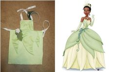 Tiana princess and the frog child's dress up apron