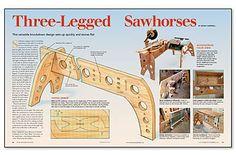 Three-Legged Sawhorses