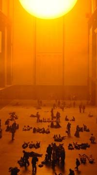 Olafur Eliason: The Weather Project    Installation Art, Tate Modern Museum, London