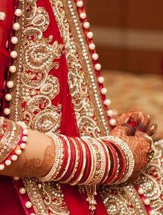 Red bangles on marriage for every bride! Matrimonialvivah.com