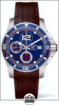 Longines Hydroconquest Automatic Chronograph Steel Mens Watch Blue Dial L3.644.4.96.2  ✿ Relojes para hombre - (Lujo) ✿