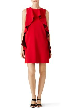 [Picked from Rent The Runway] Red crepe (70% Triacetate, 30% Polyester). Sleeveless. Boat neckline. Shift bodice. Hidden back zipper. Fully lined. 36'' from shoulder to hemline. Imported. $278.00 Buy It Now ! Shoulder Dress, One Shoulder, Rent The Runway, Boutique Moschino, Red, Stuff To Buy, Dresses, Design, Fashion