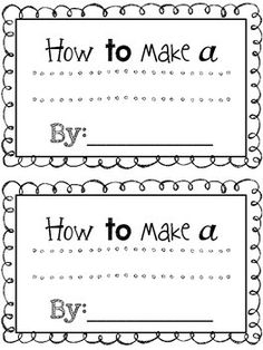 "Introducing ""How To"" Books in Lucy Caulkins? Use these editable ""How ..."