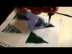 How to Paint a Pine Tree or Christmas Tree - CraftsbyAmanda.com