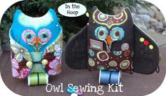 Owl Sewing Kit Machine Embroidery Design Files by EmbroideryGarden, $12.00