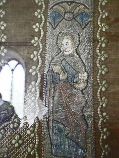 St Mary Bawdsey, Suffolk. The six panels are of 13th century Flemish origin and were probably part of a cope
