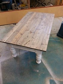 Nifty Thrifty Momma Farmhouse Style Coffee Table Old Tables Redo