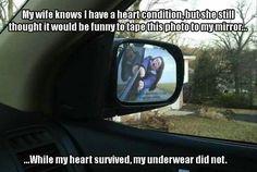 Side mirror prank