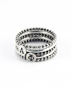 Alpha Phi Stackable Rings by Heidi J Hale Designs