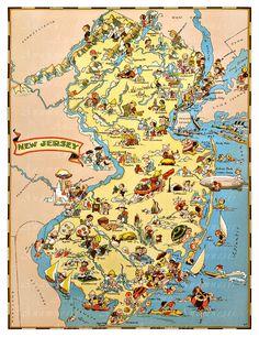World Map Original Vintage Print Showing Standard Time Zones - Nj timezone