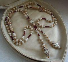 Art Deco Czech Neiger, 3 Snake Heads Uranium Glass Necklace Egypt Revival E. Lot