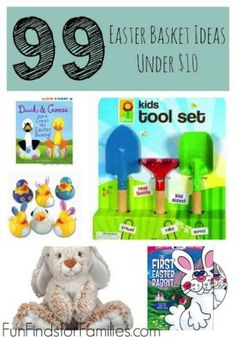 Fun and cheap easter gifts 101 easter basket ideas for kids huge list of cheap easter basket ideas all under 10 and no candy negle Images