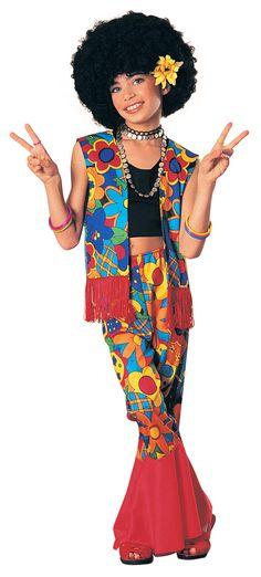Flower Power Hippie Girls Costume - Hippie Costumes