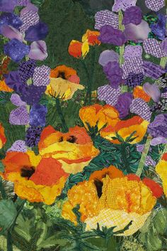 close up, A Gardener's Delight by Barb Gardener, posted by Ellen Lindner | Adventure Quilter