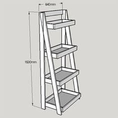 HOME DZINE Home DIY | Tiered bathroom shelf unit