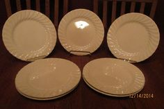 """7 Vintage Johnson Brothers Made In England Ironstone 7 7/8"""" Plates ~ Regency"""