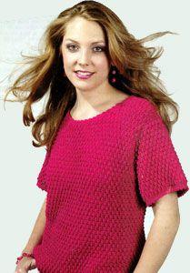Textured Top Crocheted Women's Fashion Sweater LW1404   Free Patterns   Yarn  Purple Kitty