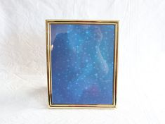 Brass 8x10 Picture Frame, Vintage Photograph / Photo Frame, Tabletop or Wall Mount