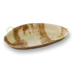 Palm Leaf Oval Shaped Plate - Disposable and perfect for #weddings www.bioandchic.com #eco-friendly